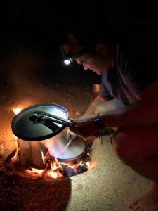 Cast Iron Pan cooking