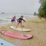 Surfing 5 year old in Sri Lanka