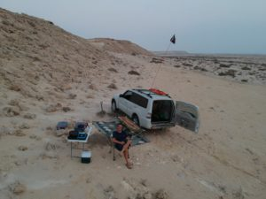 Solo Camping – Qatar – August 2019