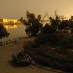 Shat Al Arab hotel at sunset