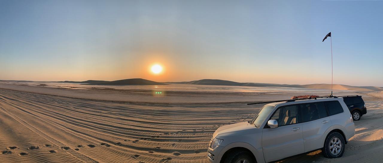 Sunset on the inland sea